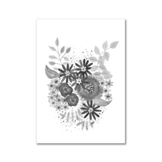 Bloemen zwart/wit